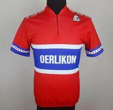 Vintage Parentini Oerlikon Cycling Jersey Men's Size L 4 Short Sleeve Bike Shirt