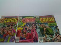 CONAN The Barbarian 1977 #s 72, 73, & 74 Bronze Age Marvel Comics (BB)