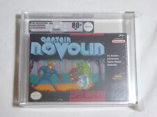 NEW Captain Novolin Super Nintendo Game VGA 80+ NM Silver Graded Sealed SNES US