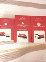 NIB 2020 Hallmark Lionel Trains: GP-9 Diesel, Crane Car &Caboose/Set Of 3/$59.97
