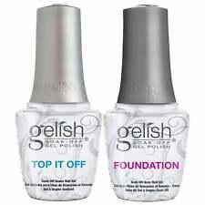 Gelish Soak Off Gel Polish Essential Duo Set - Top It Off & Foundation 2 X 15ml