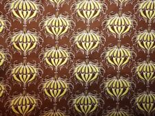 Free Spirit Fabric - 1 Yd - Chocolate Floral Ornament by Tina Givens PWTG 136