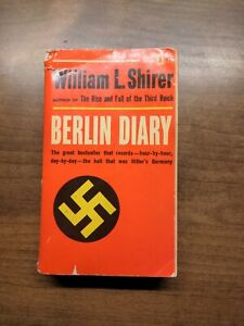 Berlin Diary by William Shirer - Popular Library W1102 1941 Red Spine Ex-Library