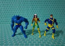 "X -Men miniature 3"" diecast metal figurines: Beast, Rogue & Cyclops"
