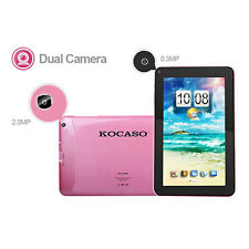 "KOCASO® 9"" Android 4.4 Tablet Quad Core 8GB Dual Camera WIFI 1.2GHz Bonus Gift"