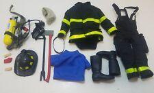Firefighter Uniform Weapons Accessories 1/6 Scale Action Figure Lot #1088