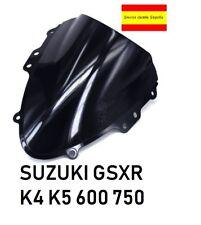 Suzuki GSXR 600/750 K4-K5 Pantalla De Doble Burbuja cupula negra