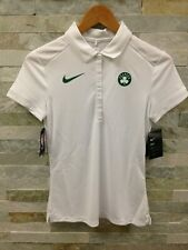 Nike Dri-Fit Boston Celtics White Core Performance Polo 864519-100 Womens Size S