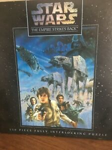"""1995 STAR WARS The Empire Strikes Back 550 Piece Puzzle MB NEW SEALED 18""""x 24""""!"""