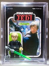 Star Wars Luke Jedi Custom Mini Action Figure Minifigure w Case & Lego Stand 230