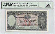 Australia, Commonwealth ND (1938) P-26a PMG Choice About UNC 58 1 Pound