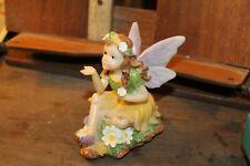 """4-1/2"""" Fairy Figure Poly-Resin Daisy Daisies Faerie"""