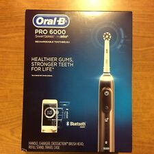 Oral-B Pro 6000 SmartSeries Braun Rechargeable Bluetooth Black Toothbrush NEW