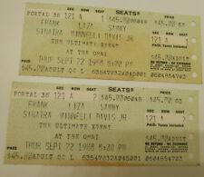 Frank Sinatra, Liza Minnelli, and Sammy Davis Jr Ticket Stubs Omni 1988