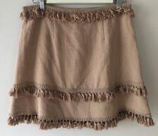 NWT INDIKAH by Angel Biba Beige Tassel A-Line Skirt Size 14/XL - RRP $45.00