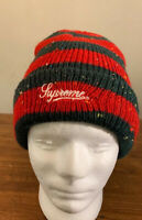 SUPREME STRIPE SPECKLE BEANIE RED FW19. WEEK 11 AUTHENTIC BRAND NEW, FAST SHIP