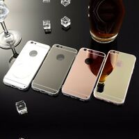 Ultra Thin Mirror Back Soft TPU Silicone Case Cover For Apple iPhone 5/6/7/8/x