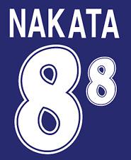 Japan Nakata Nameset 1998 Shirt Soccer Number Letter Heat Print Football Home