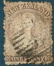 NEW ZEALAND - 1873 QV CHALON 1d 'BROWN' Used SG132a Cv £42 [A0237]