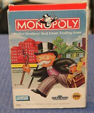 Monopoly for Sega Genesis - Complete in Box (CIB)