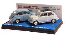 BRUMM LIMITED EDITION FLUIMUCIL - SET FIAT 600 BERLINA 1955 e TRASFORMABILE 1956