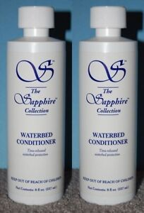 (2) Lg. 8 oz Bottles- Blue Magic Sapphire Waterbed Conditioner + Cap & Seal