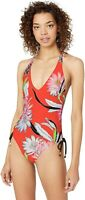Trina Turk Womens 182383 High Leg V Front One Piece Swimsuit Size 6