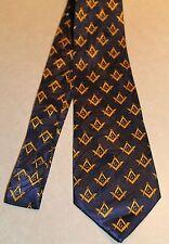 "New Men's Navy Blue Neck Tie Fraternal Organization Harris 3.8""W Mason Symbol a"