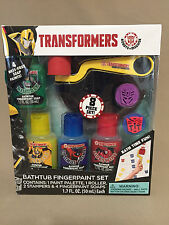 Transformers Bathtub Fingerpaint Set~4 Fingerpaint Soaps, Stampers, Roller...NEW