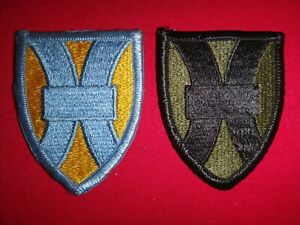 2 US Army 1st SUPPORT BRIGADE Color And Subdued Patches