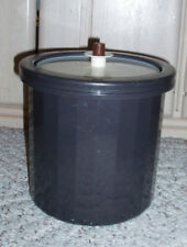3 Pc Vintage TUPPERWARE Insulated Ice Bucket~Charcoal Brown~#1683~RARE