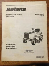 Bolens Model 30042R 30042S Mower Attachment Safety & Operating Instructions