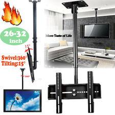 """Ceiling Mount TV Bracket 360 Tilt Swivel LED LCD Plasma for TVs Size 26"""" to 32"""""""