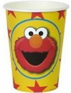 Elmo Sesame Street Party Supplies -  Paper Party Cups 6 pack, 9oz/266ml