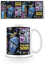 Official Doctor Dr Who Comic Strip Mug TV Film Gift Tardis Cybermen