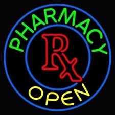 """New Pharmacy Open Rx Clinic Medical Store Beer Bar Neon Light Sign 24""""x24"""""""