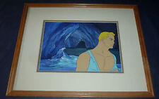 1979 FLASH GORDON ANIMATION ORIG HAND PAINTED ART PRODUCTION CEL MATTED & FRAMED