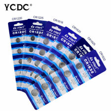 YCDC 5/25/50pcs CR1220 CR1616 CR1625 CR2032 CR2450 Button/Coin Cell 3V Batteries