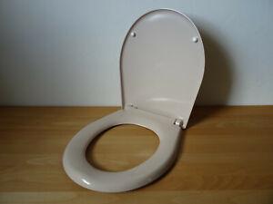WC Sitz mit Deckel BEIGE / AntiBakteriell / Click-System / bahamabeige bahama