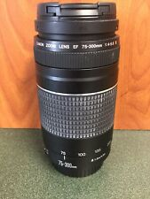 Canon Ef 75-300mm f/4-5.6 Iii Lens fits Rebel Digital Camera Slr
