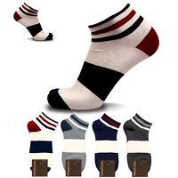 KIKIYA Men Short Socks Ankle Crew Quarter Cotton Low Cut Lot Star Pattern