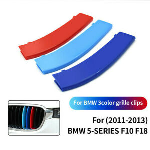 Front Grille Grill Cover Strips Clip Trim For BMW 5 series F10 F18 Accessories