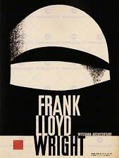 Publicité exposition culturelle frank lloyd wright architecture pologne print BB2260A