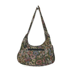 Floral Tapestry Semi Structured Hobo Bag Purse Zip Top 12 x 5 x 9 Hidden Pocket