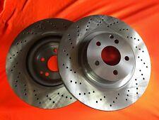 CROSS DRILLED fits MERCEDES E500 A207 C207 2010 Onwards FRONT Disc Brake Rotors