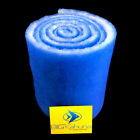 "10-FT ROLL BLUE BONDED AQUARIUM FILTER MEDIA PAD 12"" X 10'  FILTER FIBER FLOSS."