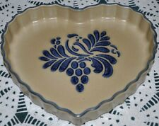 Pfaltzgraff FOLK ART Heart shaped Quiche Baking Dish USA backstamp