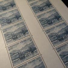 FEUILLE SHEET POLYNESIA FRENCH PA N°191 x10 SAILING BOATS 1986 NEUF MNH