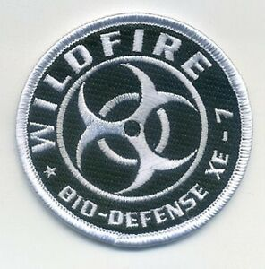 RESIDENT EVIL ZOMBIE OUTBREAK CITIZEN BIO-DEFENSE ID SHOULDER PATCH: WILDFIRE