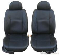 UNIVERSAL FRONT BLACK LEATHERETTE SEAT COVERS CAMPER CAR VAN TAXI MOTORHOME MPV